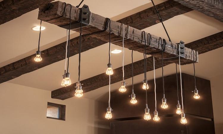 Industriële lamp voor slaapkamer